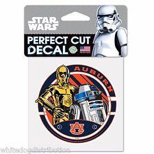 """Auburn Tigers Star Wars R2D2 & C3PO 4"""" x 4"""" Perfect Cut Color Decal"""