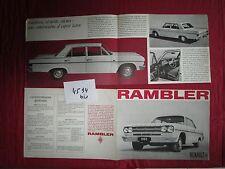 N°4594  bis  /  RENAULT Rambler dépliant 4 pages  en français  1965
