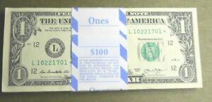 VERY RARE *STAR* NOTE $1 (L) San Fran BEP (1) Pack of 100 Consecutive 2013 BILLS