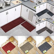 2PCS Kitchen Floor Mat Non Slip Runner Anti Fatigue Rug Set Indoor