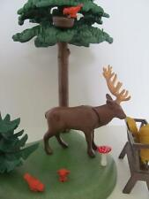 Playmobil deer stag with forest scenery & feed trough NEW countryside/wildlife