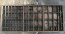 "VINTAGE ""MILLER & Richard"" STAMPANTI legno Letterpress Type Vassoio/CASE"