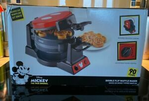 Disney Mickey Mouse 90th Anniversary Double Flip Waffle Maker DAS