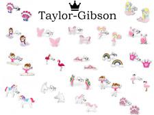 Girls Sterling Silver Earrings Studs Pink Unicorn Flamingo Mermaid Heart Glitter