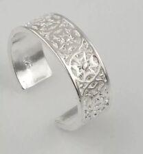 Fashion Jewelry Tjs 925 Sterling Silver Light Sky Blue Aqua Seed Bead Design Toe Ring Adjustable