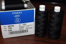 Thread Coats Epic 120, Nahgarn Starke, 100% Polyester Corespun, Col: 09700 black