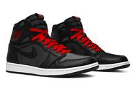 Nike Air Jordan Retro 1 High OG Black Satin Red Mens Shoe 555088 060 - SIZE 11