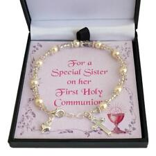 First Holy Communion Bracelet for Daughter, Goddaughter, Sister, Gift for Girl.