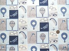 Head in the clouds montage blue fabric fat quarter 50x56 cm FF160-1 100%Cotton