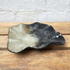Square Glass Moonrise Decorative Keys Coins Tray Dish Display Trinket Plate Bowl