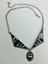 Silver Necklace Signed S Edaakie Old and Rare Navajo 925 Sterling