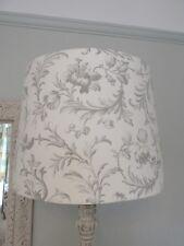 Handmade Tapered Drum 40cm Lampshade Laura Ashley Ironwork Scroll Dove Grey fabr
