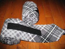 New set of 2 black/grey plaid horse polo wraps (horse/pony leg wraps)