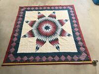 Vintage Handmade Quilt Star Shape Pattern Patchwork 80x80