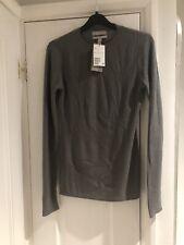 BNWT H&M Ladies Premium Wool/cashmere Blend Ribbed Khaki Jumper S