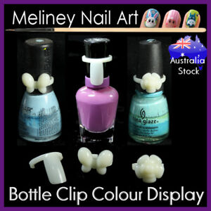 Display Clips for Nail Polish Bottle Colour Nail Art Tip ring Chart Bow Swatch