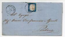 1863 ITALY COVER SA# 11c 15c COBALTO LATTEO STAMP $7250.00