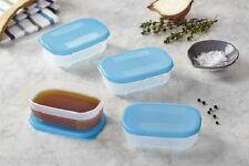 Tupperware Freezer Mate Mini's 110ml - Set of 4 - Blue - BRAND NEW