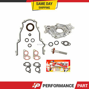 GM LS High Volume Oil Pump Change Kit with Gaskets Balancer Bolt RTV 5.3L 6.0L