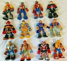 LOT OF 12 Mattel Rescue Heroes Action Figures