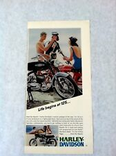 Vintage 1968 Rapido 125cc Harley Davidson Motorcycle Original Print Ad