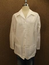 NEW Vtg USA Made Bright White Lab Coat Sz 46 Smock Scrub Medical Art Chef Jacket