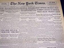 1946 APRIL 10 NEW YORK TIMES - CHOICE OF U. N. SITE SLATED - NT 3158