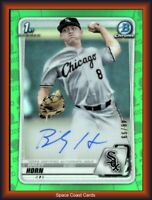 2020 Bowman Draft Chrome Picks Green Refractor /99 Bailey Horn #CDA-BHO Auto