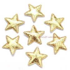 100Pcs 25mm Gold Laser Gold Star Applique Pad Patches Crafts/Cloth/Wedding Decor