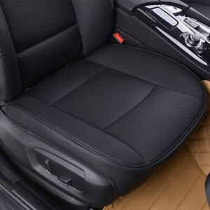 New PU Black Full Surround Leather Car Front Seat Cover Breathable Chair Cushion