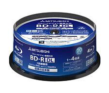 20 Verbatim Bluray Disc 50GB BD-R DL 4x Speed Inkjet Printable Made in Japan