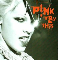 PINK try this (CD album & DVD video, limited edition) pop rock, house, P!NK