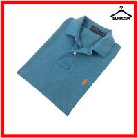 Polo Ralph Lauren Mens Polo Shirt Blue M Classic Fit Pique Cotton Short Sleeve