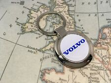 VOLVO Printed Logo Keyring CHROME C30 V40 S60 V60 V70 XC70 S80 XC60