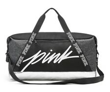 VICTORIA'S SECRET PINK SPORT DUFFLE GYM BAG - Black White Silver - NEW!