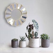 Rosette Wall Mirror Silver Round Unique Home Decor Sunburst 35cm Retro Gold