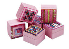 25x Job Lot Girls Pink Jewellery Trinket Boxes DE-P1 Gift Party Bag By Katz
