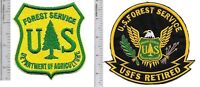 US Forest Service USFS Hotshot Wildland  Fire Crew & USFS Retired Patch gr on y