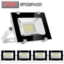 5x 30W LED Flood Light VIUGREUM Cool White Outdoor Spotlight Garden Yard Lamp