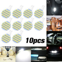 10X T10 LED 24SMD White 6000K W5W 194 Car RV Wedge Light Interior Dome lamp Bulb