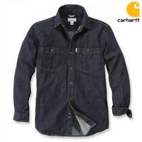 Carhartt Herren Hemd Longsleeve Rugged Flex Patten Denim Shirt Jeanshemd S - XXL