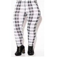 New Womens Girls Check Tartan Print Full Length Leggings Ladies Check Trouser