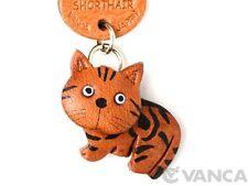 American Shorthair Handmade 3D Leather Cat Keychain *VANCA* Made in Japan #56416