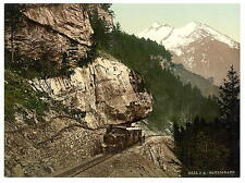 The Railway Brunig Bernese Oberland A4 Photo Print