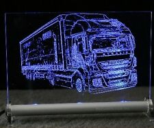 IVECO STRALIS Camion poids lourds comme Gravure Sur DEL. enseigne lumineuse