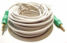 25' foot 3.5mm Stereo Male Plug to 3.5mm Stereo Male Plug Audio Patch Cable Cord