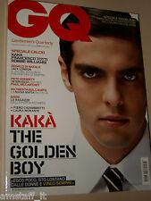 KAKA MILAN COVER MAGAZINE GQ 2007=ROBBIE WILLIAMS=TOTTI=LAURA MORANTE=MOSCA A.