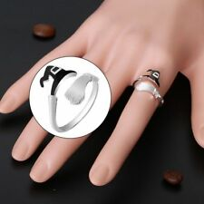 Halloween Ghost Witch Broom Finger Ring Open Rings Party Cosplay Jewelry