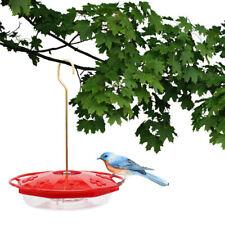 Outdoor 12 Oz Plastic Hanging Hummingbird Feeder with 8 Feeding  Ports New