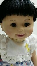 Interactive DSI Toy 2003 Black Hair baby doll, giggles, Doll, Toy, battery inc